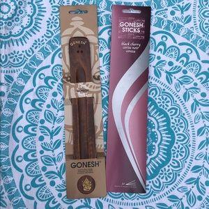 Gonesh Incense Holder and Incense Combo 🖤🍒⛩